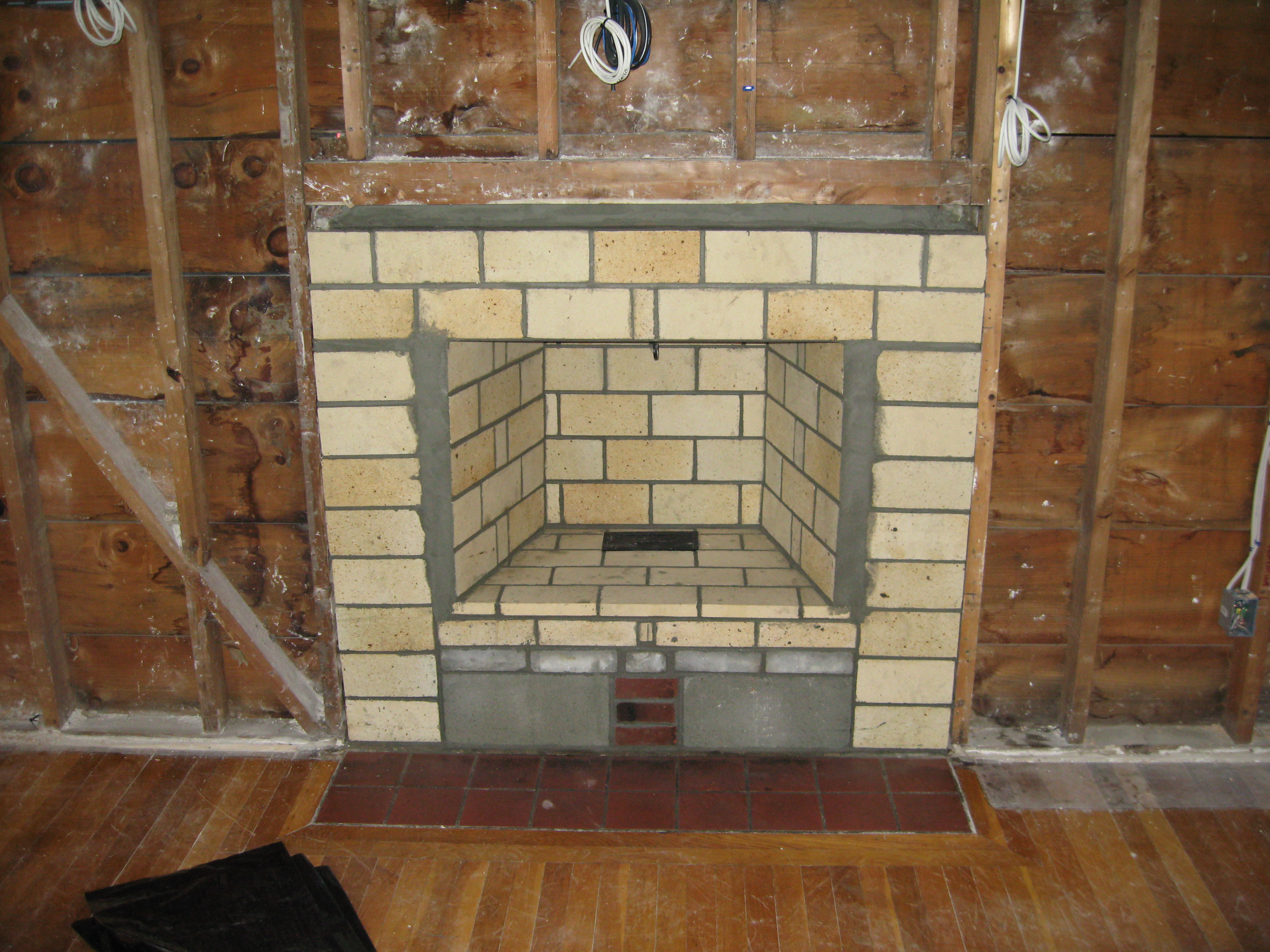 Dm storrs chimney for Fireplace chimney construction